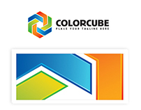 Color Cube Logo Template