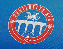 Pontlottyn Football Club Branding