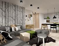 scandinavian style apartment ~