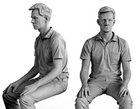 3D Scan - Seated Figure ready for 3D Print