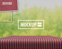 20 Table Mockups Set (Photoshop)