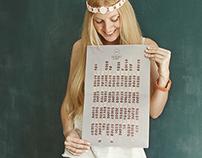 Creative coffee calendar