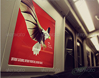 Subway Train Poster Mockup Templates
