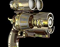 Arma Steampunk - Modelado 3D - Rhino + Keyshot