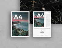 Free Brand A4 Flyer Mockup