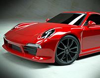 Porsche Carrera 4s sports car rendering project