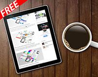 Tablet Mockup Template (FREE)