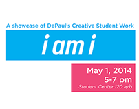 I AM I Showcase (Identity Design & Posters)