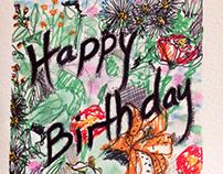 a birthday card for partner's mum.