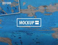 33 Surface Closeup Mockups Set (Photoshop)