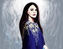 Lana Del Rey in Blue