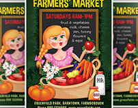 Farm Market Flyer Template