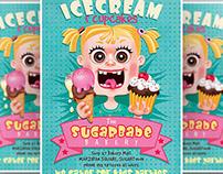 Ice Cream & Cupcakes Flyer Template