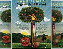 Organic Market Flyer Template