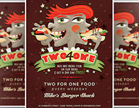 Two For One Flyer Template