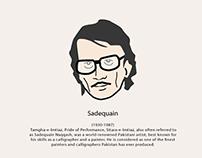 Renowned Pakistani Artists- Illustrated