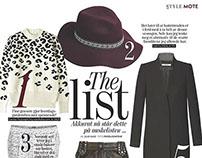 Magazine spreads for Stylemag fashion magazine