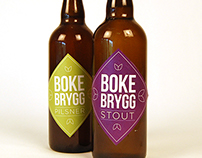 Bokebrygg beer labels
