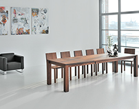 Table LIVING Butterfly pull-out system