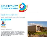 SYDNEY DESIGN AWARDS FINALIST - ACCOMMODATION POD