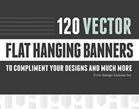 120 Flat Hanging Banners - Vector