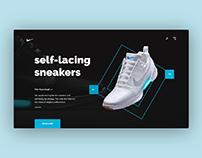 Self-lacing sneaker