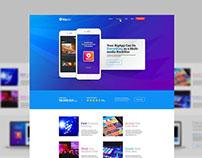 Apps Website Landing Page UI & UX Design Free