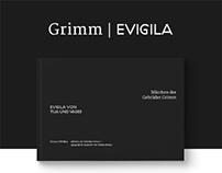 Grimm | Evigila – typografische Inszenierung