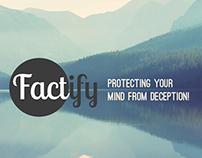 Factify app webpage