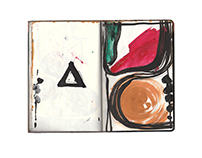 Small Abstract Notebook
