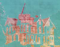 Digital Painting - Harrisonburg Landmarks