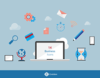 14 Free Flat Business vector icons