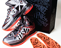 """Nike LeBron X """"None More Royal/Tattoo"""" Custom"""