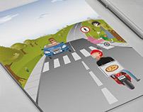Ilustração campanha trânsito Fibria