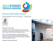 SYDNEY DESIGN AWARDS - WINNER -QANTAS HONG KONG