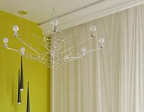 Visualizations of interior design project in Izabelin