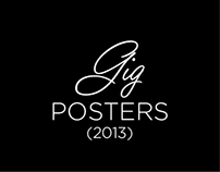 GIG POSTERS 2013