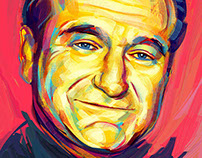 A Pop Art Expression of Robin Williams in Photoshop