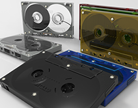 Cassette TDK MA-R90 - Modelado 3D - Rhino + Keyshot