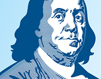 Ben Franklin illustration