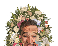 Robin Williams tribute illustration