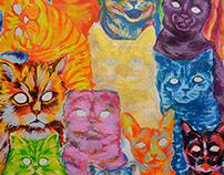 Timelapse: 15 gatos para mi madre (WIP dia1)