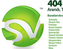 SikayetVar 404 Error Page Design