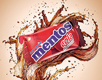 Mentos Cola - Splash and Product