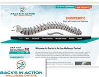 Backs In Action Wellness Center - Web Development