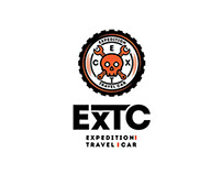Logo for EXTC car customizing company