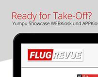 Die FlugRevue setzt auf Produkte aus dem Hause Yumpu!