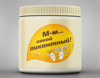 Characters: mayonnaise packaging