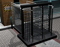 3D Product Rendering. (Bi-Directional Turnstile