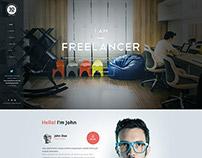 IAmFreelancer - OnePage WP Skin